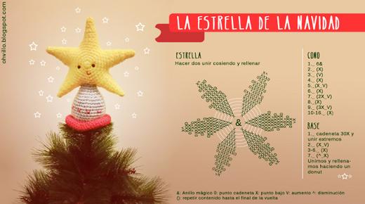 Patrón de estrella de navidad a ganchillo » El blog de Lanas.NET