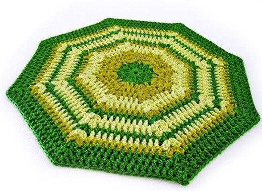 Patrón ganchillo para una alfombra octogonal de lana » El blog de ...
