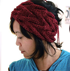 Knitted Headband Pattern On Circular Needles : 5 Modelos de bandas de lana para el cabello   El blog de ...