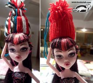 Sombreros de lana para muñecas_1