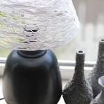 Sencilla pantalla de lana para lámpara