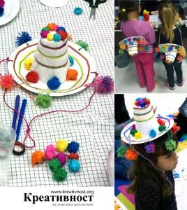 Sombrero mejicano con pompones de lana_1