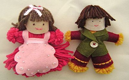 Modelos de muñecas de lana
