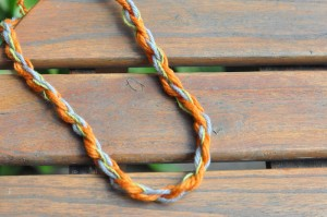 kids camp yarn craft how to make necklace