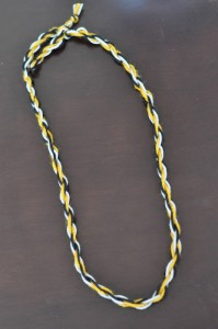 kids camp yarn craft necklace how to make