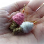 Pendientes heladitos de lana