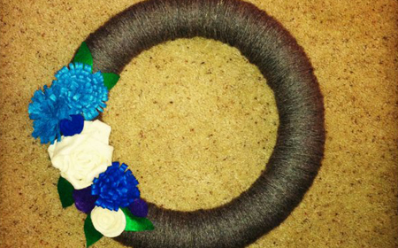 Guirnalda sencilla con lana